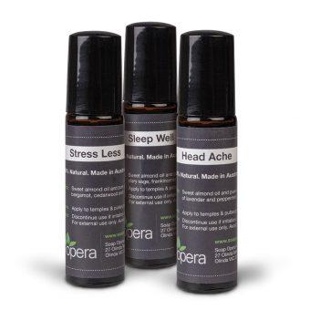 Pure Essential Oil Roll-On Pack Headache Stress Sleep